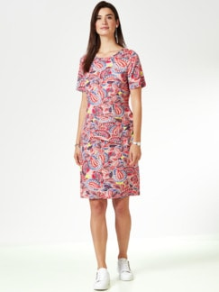 Jersey-Layeringkleid Paisley Pfirsich/Multi. Detail 1