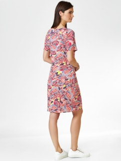 Jersey-Layeringkleid Paisley Pfirsich/Multi. Detail 2