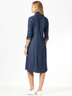 Lyocell- Cargokleid Denim Blue Detail 3