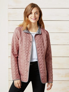 Wendesteppjacke Pure and Simple Rose/Grau Detail 1