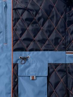 Aquastop Parka Rauchblau Detail 4