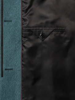 Alpaka-Silk-Mantel Flaschengrün Detail 4