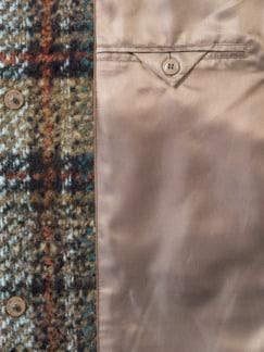 Karo-Wolljacke-Multicolor Camel Detail 4