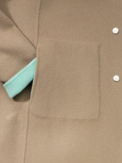 Double Face Wolljacke mint/beige Detail 3