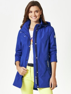 Aquastop Jacke Royalblau Detail 1