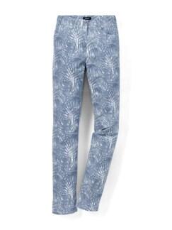 Five- Pocket Hose Palmendruck Bleu Detail 3