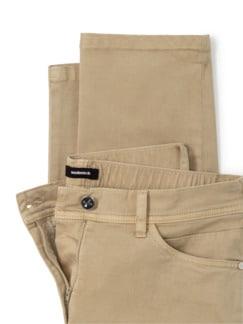 Five-Pocket-Hose Flechtgürtel Saharabeige Detail 4
