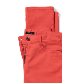 Yoga-Jeans Ultraplus Karminrot Detail 4