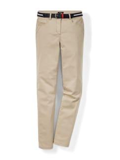 Gürtel- Jeans Saharabeige Detail 2