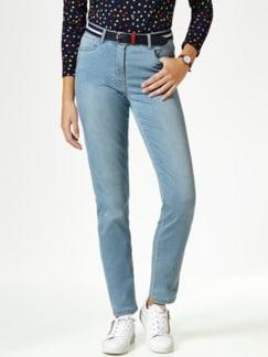 Gürtel- Jeans Blue Bleached Detail 1