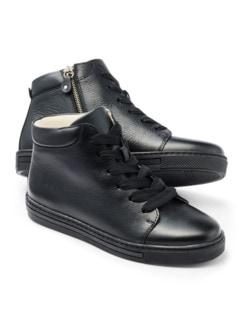 Reißverschluss-City Sneaker High Schwarz Detail 1