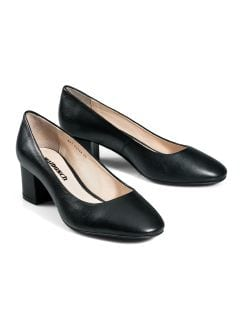 Soft-Block Pumps Schwarz Detail 1