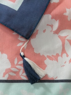 Swiss Cotton Country-Tuch Rose/Mint Detail 3
