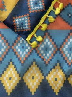 Schal Dune Blau/Gelb Detail 3
