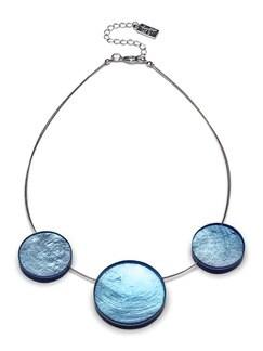Kette Meeresschatz Meerblau Detail 1