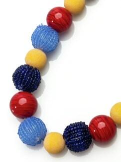 Kugelkette Farbenfrische Blau/Rot Detail 3
