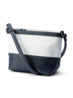 2-Farben-Tasche Marine/Weiß Detail 1