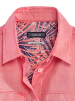 Pima-Cotton-Hemdbluse-Oxford Rot Detail 4