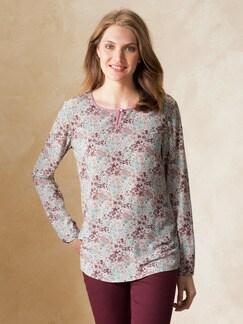 Bequem Shirtbluse Millefleur Rose Detail 1