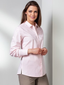 Extraglatt-Bluse Modern Classic Minimal Rose Detail 1