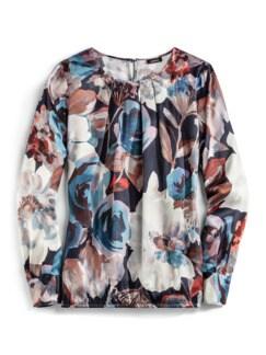 Edel-Shirtbluse Aquarellblüte