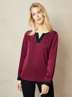 Shirtbluse Shogun Colorblocking Rot Detail 1