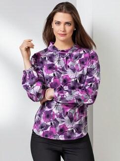 Shirtbluse Viola Lila/Grau Detail 1