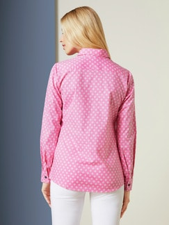 Bequem-Hemdbluse Dots Rose Detail 4
