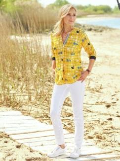 Viskose Shirtbluse Meeresbrise Gelb Detail 2