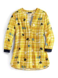 Viskose Shirtbluse Meeresbrise Gelb Detail 3