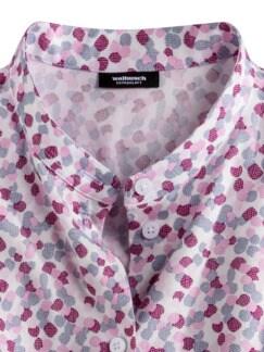 Stretchflanell-Stehkragen-Bluse Minimal Multicolor Detail 3