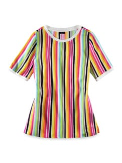 Shirtbluse-Multicolor-Streifen Pink/Grün Detail 2