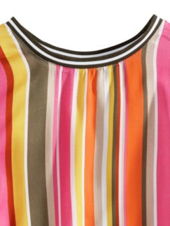 Viskose-Shirtbluse Bella Vita Streifen Pink Detail 3