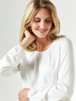 Viskose-Shirtbluse Weiß Detail 4