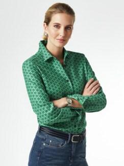 Kuschelflanell-Bluse Minimal Grün Detail 1