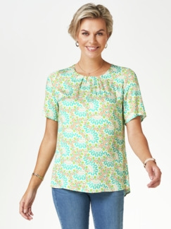 Viskose-Shirtbluse Bella Italia Grün Detail 1