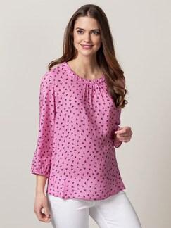 Viskose Shirtbluse Wellenspiel Pink Detail 1