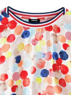 Shirbluse Aquarelltupfen Multicolor Koralle Detail 4