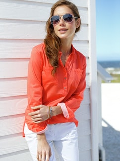 Shirtbluse Seaside Korall Detail 1