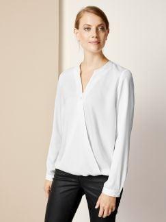 Bluse Wickeloptik .Weiß Detail 1