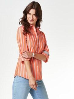 Extraglatt-Hemdbluse-Everyday Streifen Orange Detail 1