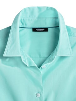 Extraglatt-Hemdbluse Everyday Uni Mint Detail 3
