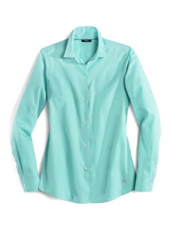 Extraglatt-Hemdbluse Everyday Uni Mint Detail 2
