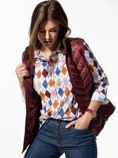 Premium-Stretch Bluse Raute Multicolor Detail 1