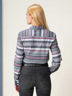 Bluse Leichtflanell Gemustert Detail 4