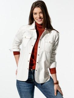 Extra-Feincord-Bluse Offwhite Detail 1