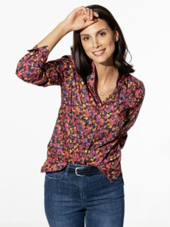 Liberty Bluse Mohnrot Detail 1