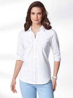 Jersey-Bluse Exquisit Weiß Detail 1