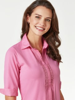 Jersey-Bluse Exquisit Pink Detail 4