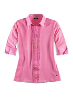 Jersey-Bluse Exquisit Pink Detail 2